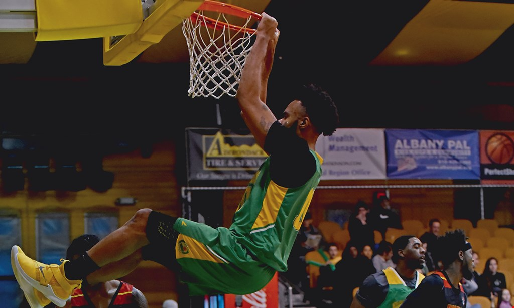 Product image for Albany Patroons Professional Basketball $30 For 4 General Admission Tickets For The 2020 Season (Reg. $60)