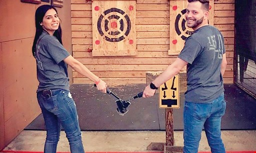 Product image for Stumpy's Hatchet House-West Chester $50 For 1 Hour Of Axe Throwing For 4 People (Reg. $100)