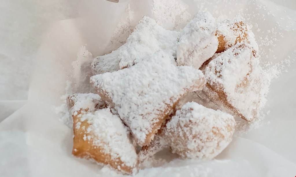 Product image for Beignets And Lattes $10 For $20 Worth Of Bakery Items (Purchaser Will Receive 2-$10 Certificates)