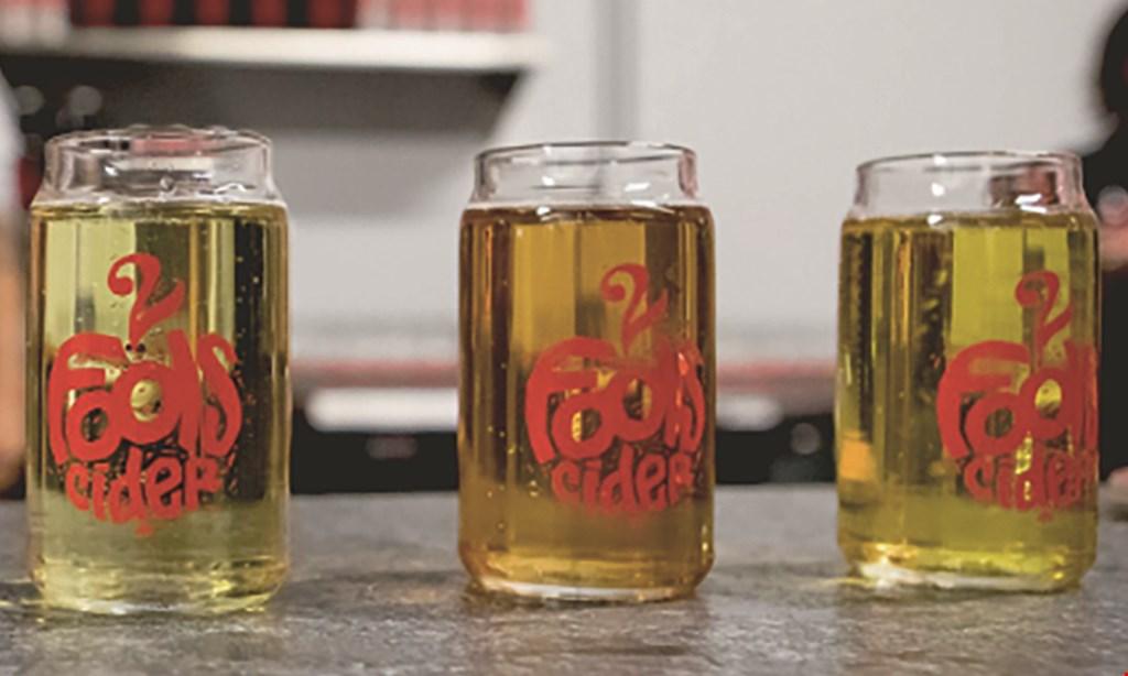 Product image for 2 Fools Cider $16 For Flight Tasting & Glasses For 2 (Reg. $32)