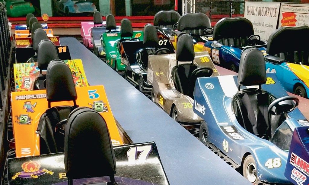 Product image for Karts Indoor Raceway $15 For 2 Go Kart Rides For 1 Person (Reg. $30)