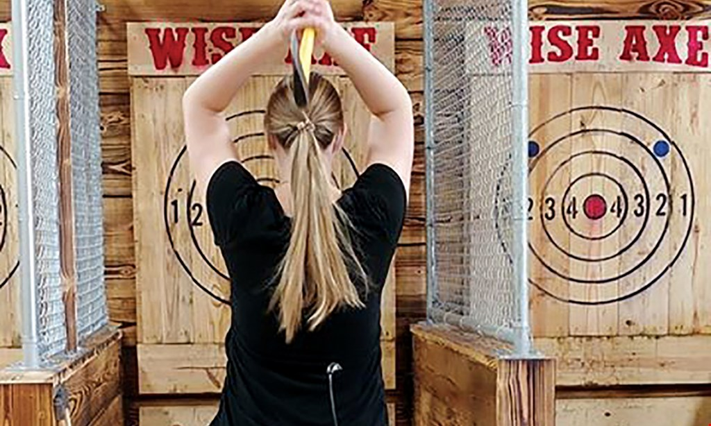 Product image for Wise Axe $25 For 1 Hour Of Axe Throwing For 2 People (Reg. $50)