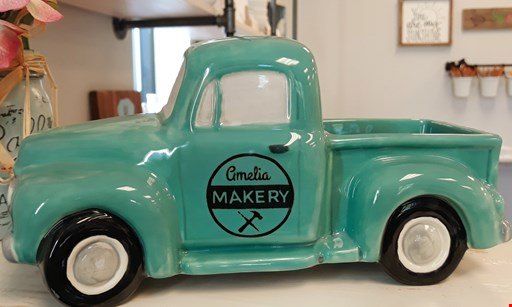 Product image for Amelia Makery 2 $10.00 for $20.00 Worth of Ceramics or Wood Painting