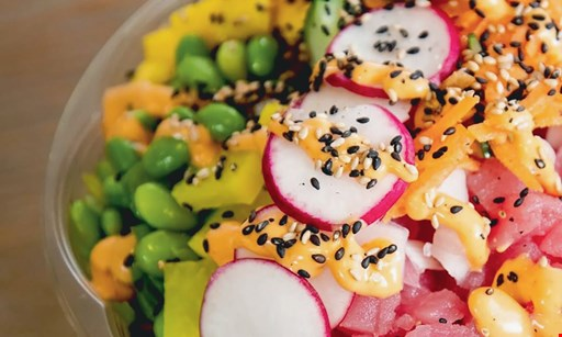 Product image for Pokemoto - West Hartford $10 For $20 Worth Of Poke Bowls & Burritos