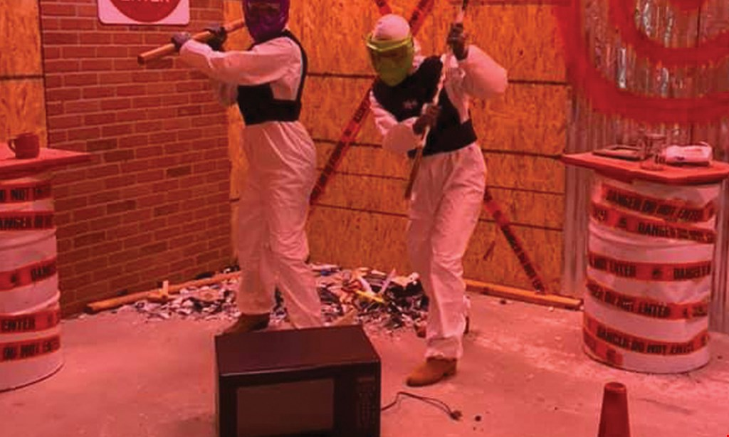 Product image for Just Smash It Rage Rooms $70.00 for a rage room experience for 4 people ($140 value)
