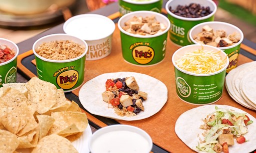 Product image for Moe's Southwest Grill - Riverhead/Centereach/Rocky Point $10 For $20 Worth Of Southwestern Cuisine (Also Valid On Take-out & Curbside Pickup With Minimum Purchase Of $30)