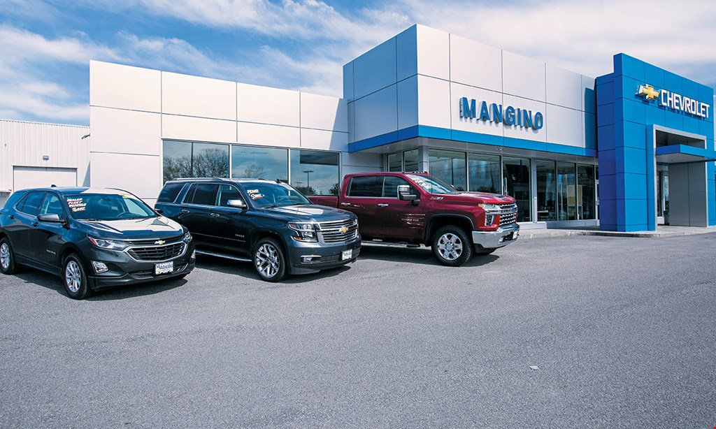Product image for Mangino Chevrolet $110 For 2 Hours Of Labor In The Service Dept (Reg $220)