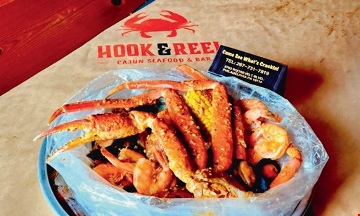 Product image for Hook & Reel $20 For $40 Worth Of Casual Dining (Also Valid On Take-Out W/ Min. Purchase Of $60)