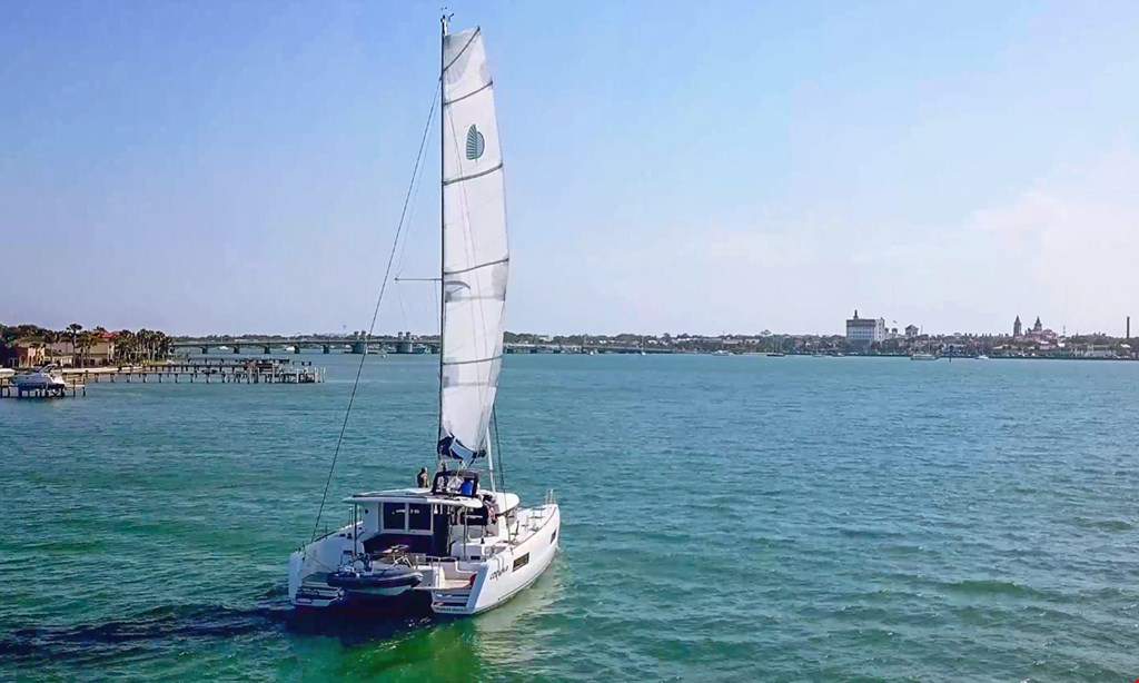 Product image for St. Augustine Sailing $1000 for a full day (8 hours) luxury catamaran rental for up to 6 guests (Reg. $2000)