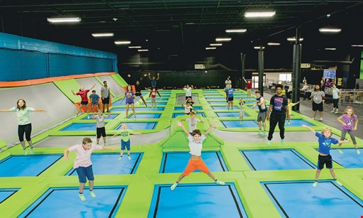 Product image for X-Drenaline $25 For 2 Hours Of Jump Time & 2 Pairs Of Jump Socks For 2 (Reg. $50)