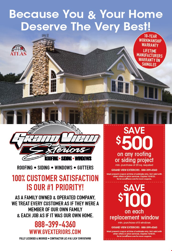 Save 500 On Any Roofing Or Siding Project Min Purchase Of 20 Sq Required At Grand View Exteriors Pilesgrove Nj