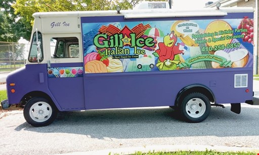 Product image for Gill Ice-Italian Ice & Hand Dipped Ice Cream $10 For $20 Worth Of Italian Ice & Hand Dipped Ice Cream