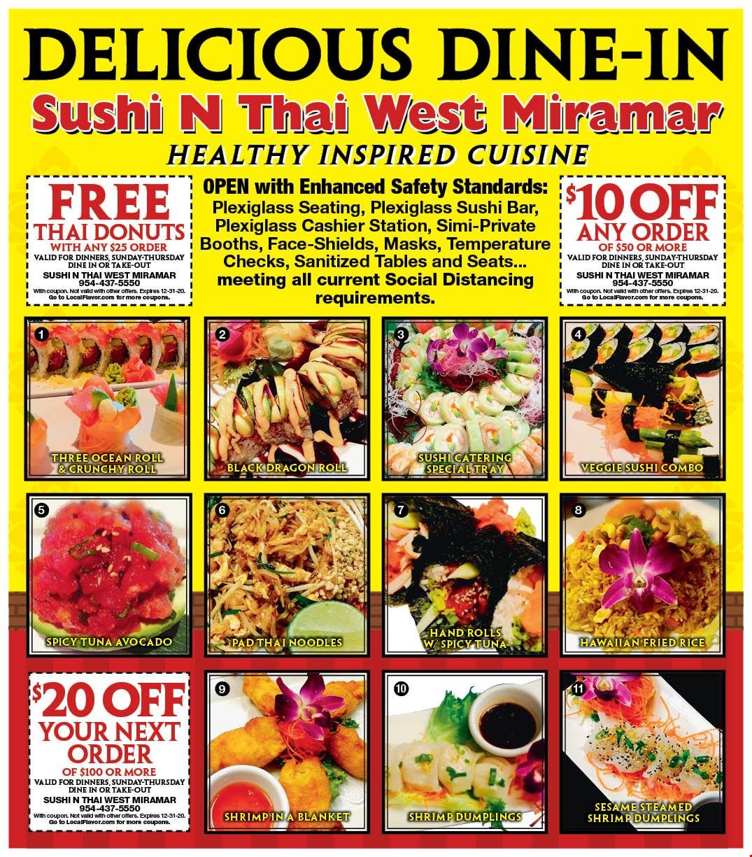 Sushi N Thai West Miramar Coupons Deals Miramar Fl The sushi god of tokyo. sushi n thai west miramar coupons