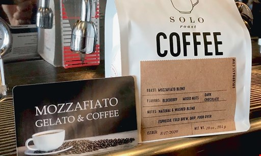 Product image for Mozzafiato Gelato & Coffee $10 For $20 Worth Of Cafe Dining