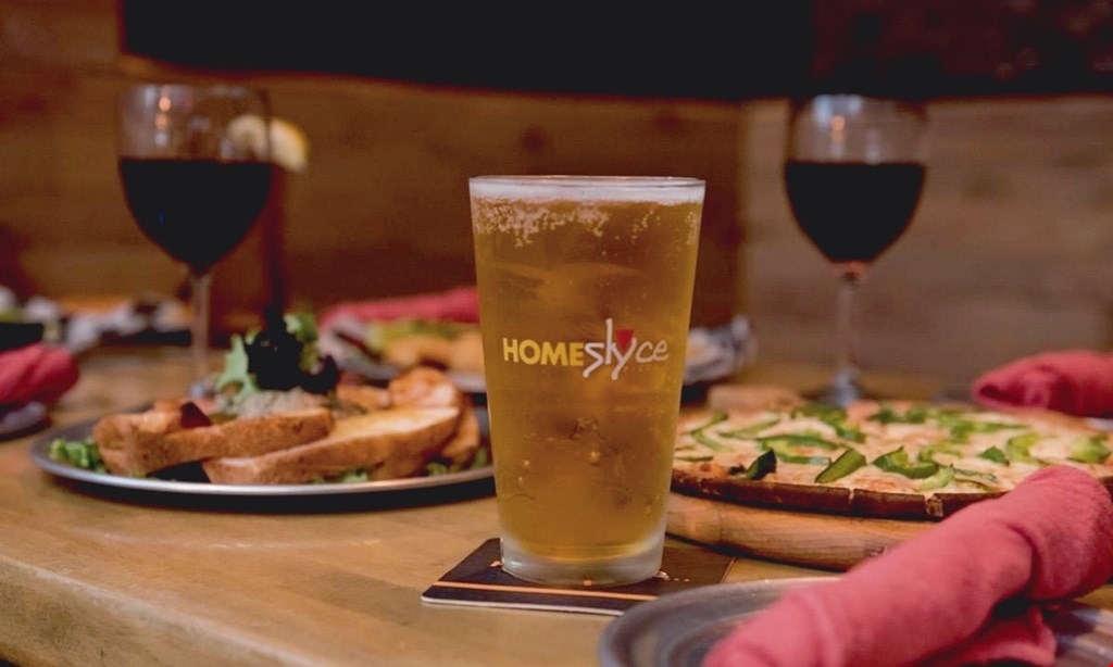 Product image for Homeslyce Pizza Bar $10 For $20 Worth Of Pizza, Subs & More (Also Valid On Takeout W/ Min. Purchase Of $30)