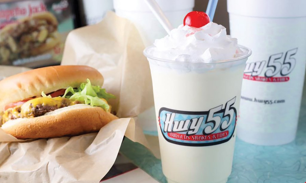 Product image for Hwy 55 Burgers Shakes & Fries Fuquay Varina $10 For $20 Worth Of Casual Dining