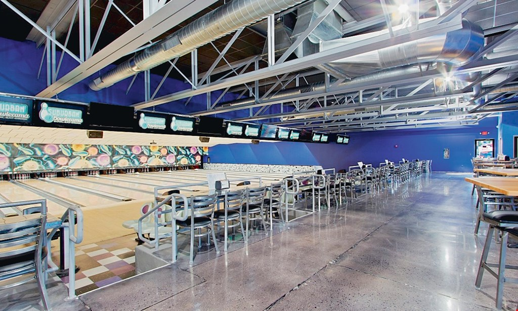 Product image for Suburban Bowlerama $35 For A 90-Minute Bowling Package For 6 People Including Shoe Rental (Reg. $70.50)