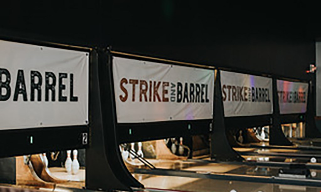 Product image for Strike And Barrel $25 For 1 Hour Of Bowling For Up To 6 People With Shoe Rental (Reg. $50)