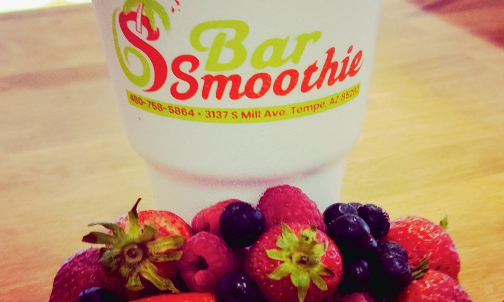 Product image for Bar Smoothie $10 For $20 Worth Of Smoothies, Juices & Sorbets