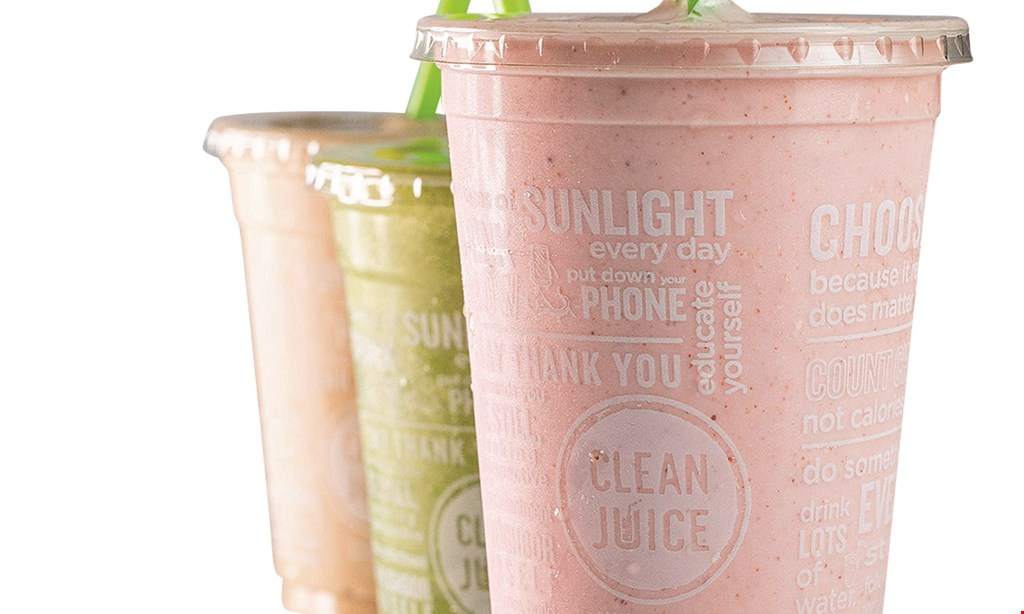 Product image for Clean Juice $10 For $20 Worth Of Smoothies & More