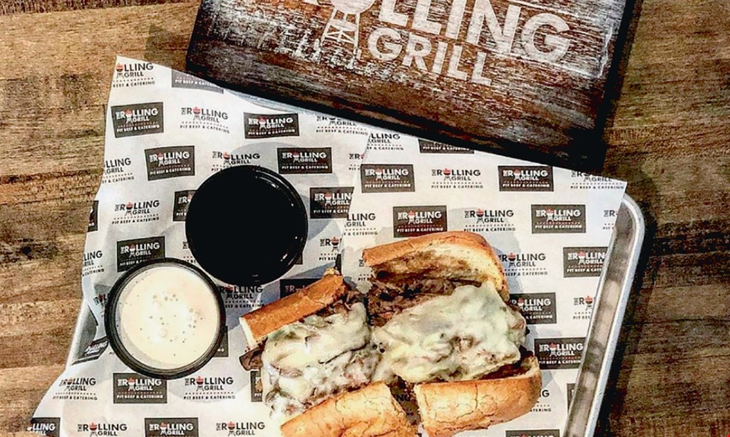 Product image for The Rolling Grill $10 For $20 Worth Of Pit Beef, BBQ & Craft Sandwiches (Also Valid on Take-Out W/Min. Purchase Of $30)