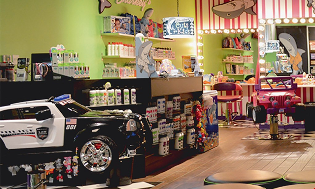 Product image for Sharkey's Cuts For Kids- Jacksonville $150 For A Private Party For Up To 5  (Reg. $300)