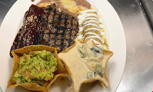 Product image for Cinco De Mayo 2 $15 For $30 Worth Of Mexican Dinner Cuisine (Also Valid On Take-Out W/Min. Purchase Of $45)