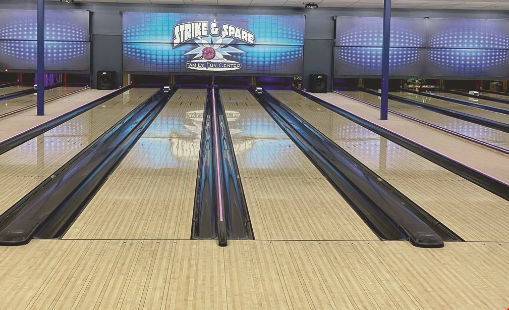 Product image for Strike & Spare Family Fun Center $19 For $38 For 2 Wristbands (Includes Unlimited Attractions, 1 Game of Bowling & Rental Shoes)