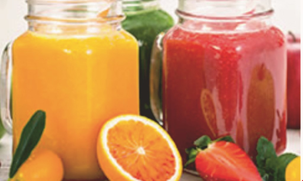 Product image for Juice Therapy $10 For $20 Worth Of Wraps, Smoothies, Soups & More