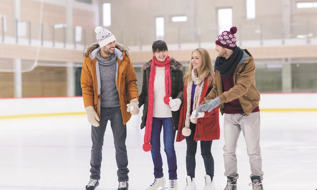 Product image for Lloyd Center Ice Rink $15 For A Skating Session Pass & Skate Rental For 2 (Reg. $30)