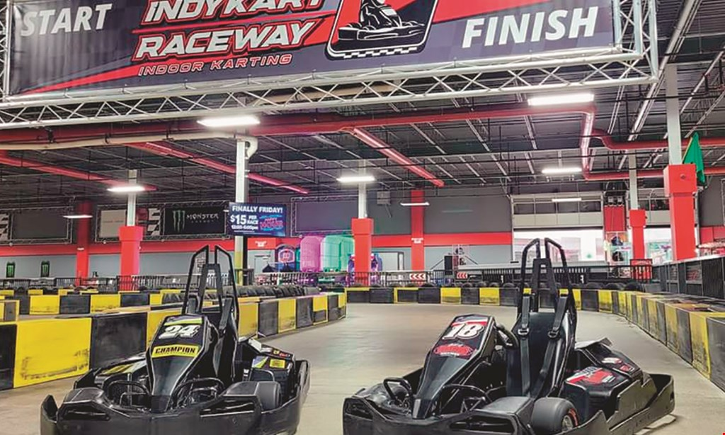Product image for Indykart Raceway Indoor Karting $20 For 1 Race For 2 People (Reg. $40)