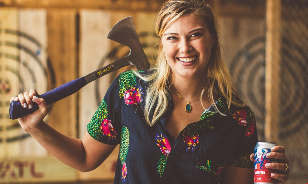 Product image for Valkyrie Axe Throwing $20 For One Hour Of Axe Throwing For 2 People (Reg. $40)