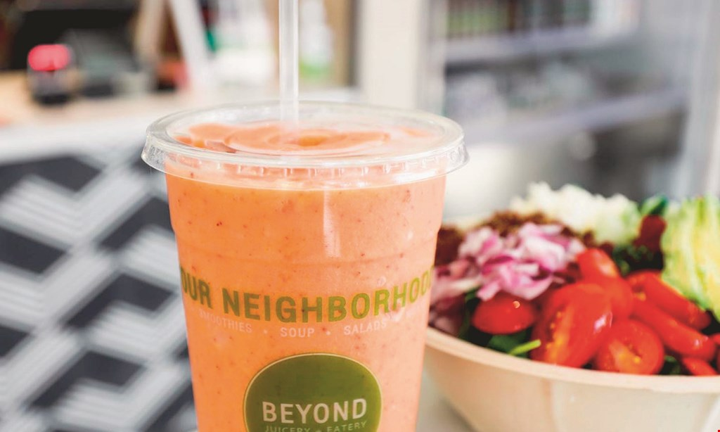 Product image for Beyond Juicery & Eatery $10 For $20 Worth Of Smoothies & More