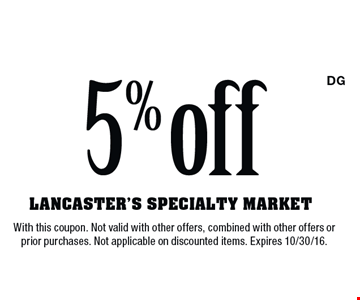 $5 Off. With this coupon. Not valid with other offers, combined with other offers or