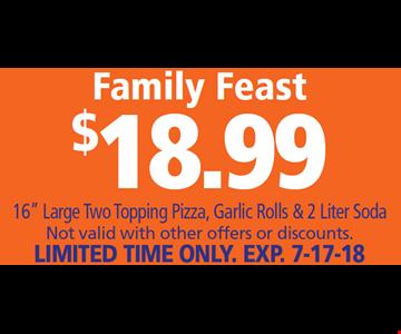 Family Feast $18.99 16