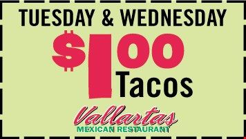 Tuesday & Wednesday $1.00 Taces