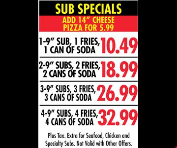 Sub Specials! (Add 14