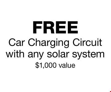 Free Car Charging Circuit with any solar system. $1,000 value.