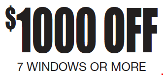 $1,000 OFF 7 Windows or More.