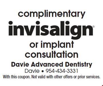 With this coupon. Not valid with other offers or prior services. With this coupon. Not valid with other offers or prior services.