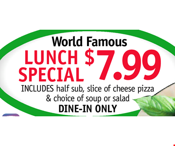 Lunch Special $7.99